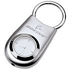 Modern Silver Clock Keychain