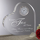 A Time For Love Egraved Heart Clock