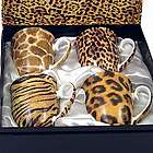 Go Wild Set of Four Bone China Mugs