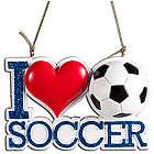 I Heart Soccer Ornament