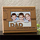 Number One Dad Personalized Picture Frame