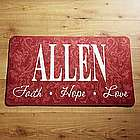 Personalized Faith, Hope, Love Doormat