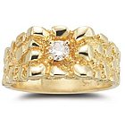 0.20 Ct Diamond Mens Ring in 14K Yellow Gold