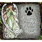 Faithful Friend Stone Pet Memorial