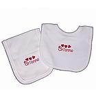 Personalized Heart Bib and Burp Set