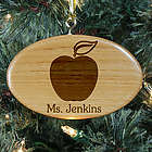 Personalized Teacher Wooden Oval Ornament