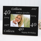 Personalized Birthday Cheers Photo Frame