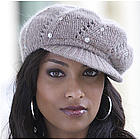 Hand Knit Crystal Cap