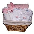 Baby Lamb Gift Basket in Pink
