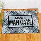 Personalized Diamond Plate Man Cave Doormat