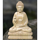 Buddha Blessing Wood Statuette