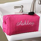 Embroidered Pink Make-up Bag