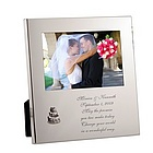 Silver Wedding Message From the Heart Frame