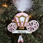 Personalized Princess Carriage Ornament