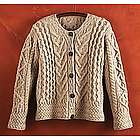 Women's Merino Wool Irish Cardigan