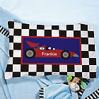 Personalized Racecar Pillow