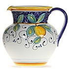 Italian Lemons Ceramic Pitcher