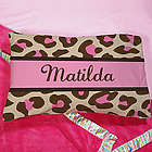 Personalized Pink Leopard Print Pillow