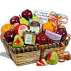 Sympathy Fruit and Snacks Gift Basket