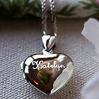 Girl's Sterling Silver Heart Locket Necklace