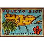 Puerto Rico Map Leather Photo Album
