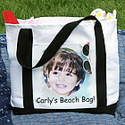 Premium Two-Tone Personalized Photo Tote Bag