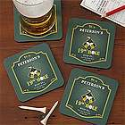 19th Hole Personalized Golf Bar Coasters