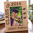 Personalized Hats Off Graduation Wood Photo Frame