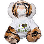 Personalized I Love You Military Tiger