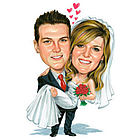 Wedding Caricature Digital Art
