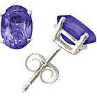 Oval Tanzanite Earrings