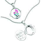 Diamond Hush-A-Bye Children's Locket Pendant in Silver