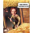 Dairy Farmer Caricature Art Print