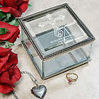 Engraved First Holy Communion Glass Jewelry Box