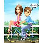Need a Ride Caricature Art Print