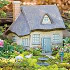 Gray Resin Fairy Cottage
