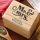 Happy Couple Personalized Recipe Box