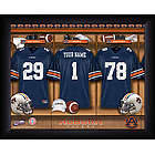 Personalized Auburn Tigers College Football Locker Room Print
