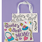 Canvas Color-Your-Own Mom Tote Bags