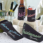 Personalized Bridal Rhinestones Can and Bottle Wrap