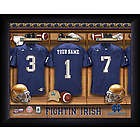 Personalized Notre Dame Fighting Irish Football Locker Room Print