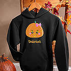 Personalized Girls Halloween Pumpkin Sweatshirt