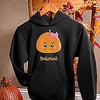Personalized Girls Halloween Pumpkin Sweatshirt