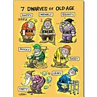 The 7 Dwarves of Old Age Birthday Card
