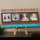 Personalized Photo Message Canvas Art for Dad