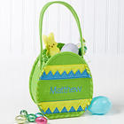 Personalized Green Easter Egg Treat Bag