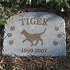 Personalized Pet Cat Breed Memorial Stone