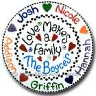 Personalized Love Makes A Family Plate
