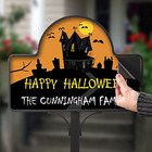 Personalized Halloween Haunted House Yard Stake Magnet