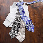 Repeating Name Personalized Men's Tie